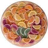 Candy. Sweet marmalade in the form of citrus slices royalty free stock photography