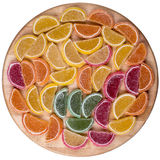 Candy. Sweet marmalade in the form of citrus slices stock image