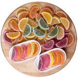 Candy. Sweet marmalade in the form of citrus slices royalty free stock images