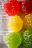 Candy. Sweetness of candy, chewing sugar, close-up shooting Royalty Free Stock Photos