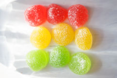 Candy. Sweetness of candy, chewing sugar, close-up shooting Royalty Free Stock Image