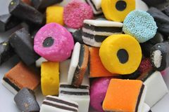 Candy and sweets all sorts Stock Photo