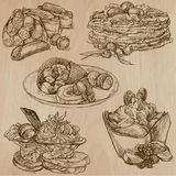 Candy and Sweets - Collection of hand drawn illustrations Stock Image