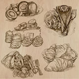 Candy and Sweets - Collection of hand drawn illustrations Stock Images