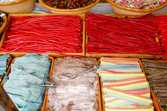 Candy sweets colorful shop varied jelly. Sugared royalty free stock photography