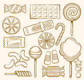 Candy, Sweets, Confectionery. Vector Illustration of Candies, Sweets, Confectionery Stock Illustration