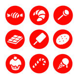 Candy  and Sweets icons set Royalty Free Stock Image