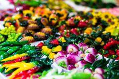 Candy sweets jelly in colorful display shop Royalty Free Stock Image