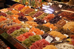 Candy and sweets vendor, Barcelona, Spain Stock Photo