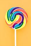Candy Swirl Lollypop. A studio photo of a candy swirl lollypop Stock Photos
