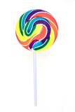 Candy Swirl Lollypop. A studio photo of a candy swirl lollypop Royalty Free Stock Photo