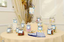 Candy table at wedding Stock Photography