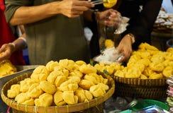 Candy Tan nel mercato Bangkok Tailandia Fotografie Stock Libere da Diritti