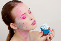 Candy Themed Styled Girl Stock Images