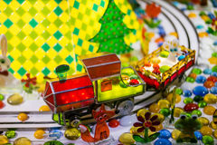 Candy train. Candy land. Stock Photos