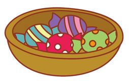 Candy in a tray Royalty Free Stock Photos