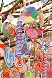 Candy tree. A tree fill with candies hanging downwards royalty free stock images
