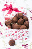 Candy truffles in a gift box Royalty Free Stock Photos