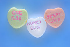 Candy Valentine's hearts Stock Photos
