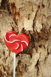 Candy valentines hearts on a background of wooden. Stock Images