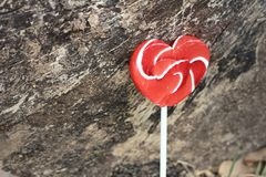 Candy valentines hearts on a background of wooden. Royalty Free Stock Photos