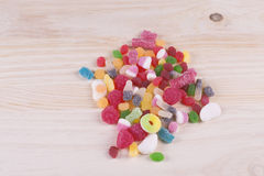 Candy of various types and colors. Royalty Free Stock Photography