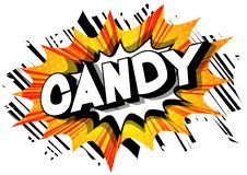 Candy - Comic book style words. stock illustration