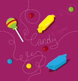 Candy vector pattern Royalty Free Stock Images