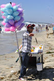 Candy vendor Stock Image