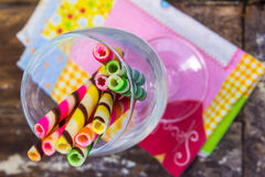 Candy wafer stick Stock Images