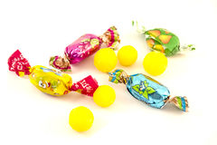 Candy on a white background. Candy and jelly beans on a white background Royalty Free Stock Images