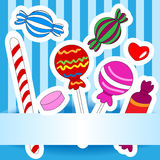 Candy wish or invitation card Royalty Free Stock Photos