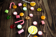 Candy wood holiday mint bright Royalty Free Stock Photo
