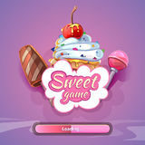 Candy World Game Vector Background Royalty Free Stock Photos