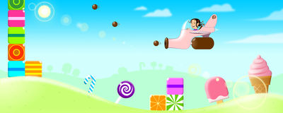 Candy World Stock Images