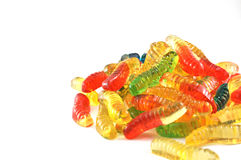 Candy worms stock photos
