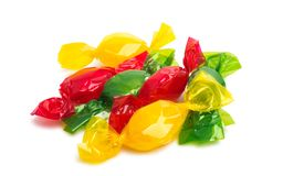 Candy in wrapper. On white background Stock Photography