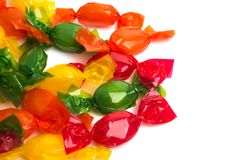 Candy in wrapper. On white background Stock Images