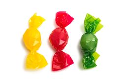 Candy in wrapper. On white background Royalty Free Stock Photos