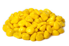 Candy yellow pebbles Royalty Free Stock Image
