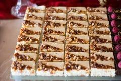 Candybar avec du chocolat Images stock