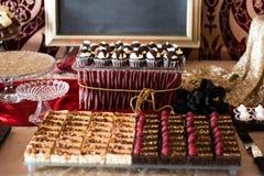 Candybar avec du chocolat a Photos libres de droits