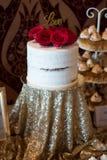Candybar avec le gâteau de chocolat Photographie stock libre de droits