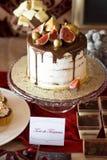 Candybar avec le gâteau et le chocolat d'autum Photos libres de droits