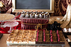 Candybar with chocolate a. Royalty Free Stock Photos