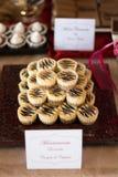 Candybar con la torta de chocolate Fotos de archivo libres de regalías