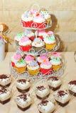 Candybar cupcakes Στοκ φωτογραφίες με δικαίωμα ελεύθερης χρήσης