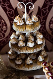 Candybar with cupcakes. Stock Photo