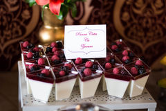 Candybar with puding. Stock Images