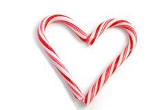 candycane καρδιά Στοκ εικόνες με δικαίωμα ελεύθερης χρήσης